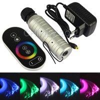 DC12V 6W RGB LED Plastic Fiber Optic Star Ceiling Kit Light 200pcs 0 75mm 2M Touch