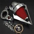 Peças da motocicleta Cone de Spike Air intake Cleaner para Harley CV Carburador Delph V-Twin CHROME