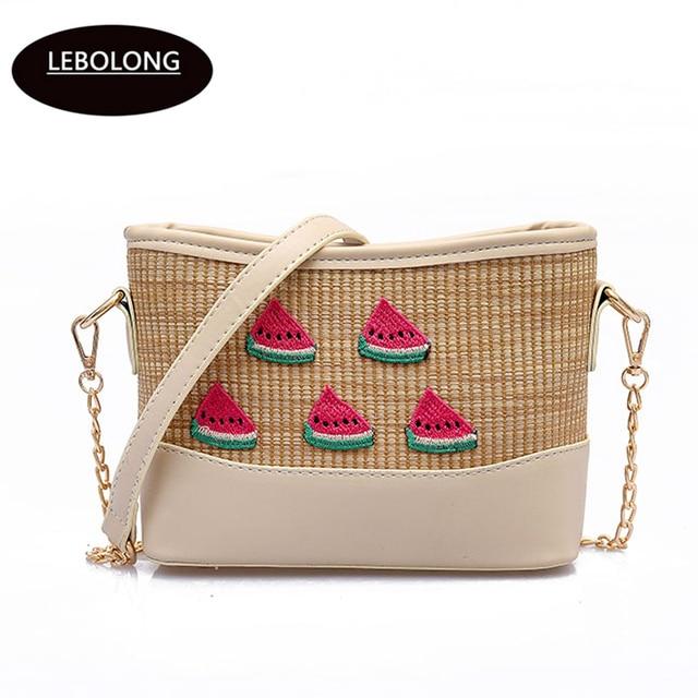 c454434834 Lebolong Women Straw Handbags Lady Fashion Style shoulder bags Girls Cheap  Handbag Small Vintage Messenger Bag Summer Beach Tote