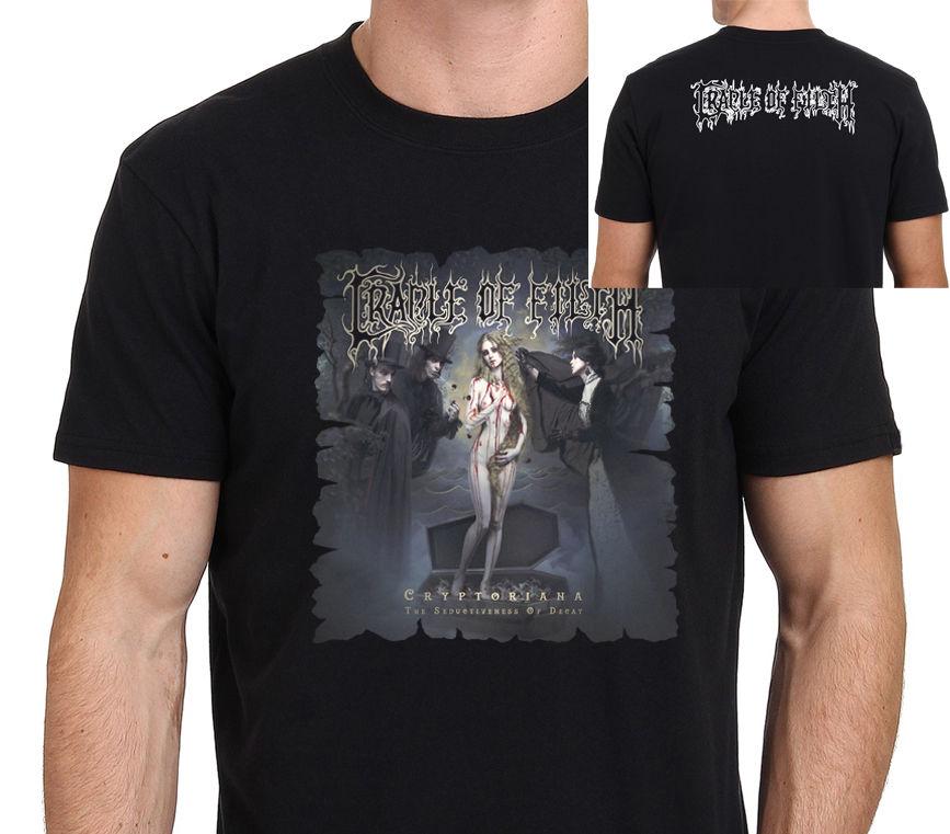Ausdrucksvoll Cradle Of Filth Cryptoriana Männer Schwarz T-shirt Größe: S-m-l-xl-xxl Neue Herren Frühling Sommer Kleid Gedruckt Herren T Shirt BüGeln Nicht
