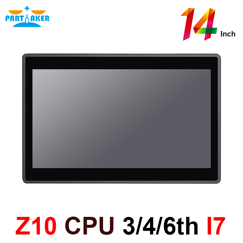 Capacitive Touch Screen All In One Computer With Intel Core I7 4510U 14 Inch Embedded Installation 10 Points 2GB Ram 32GB SSD