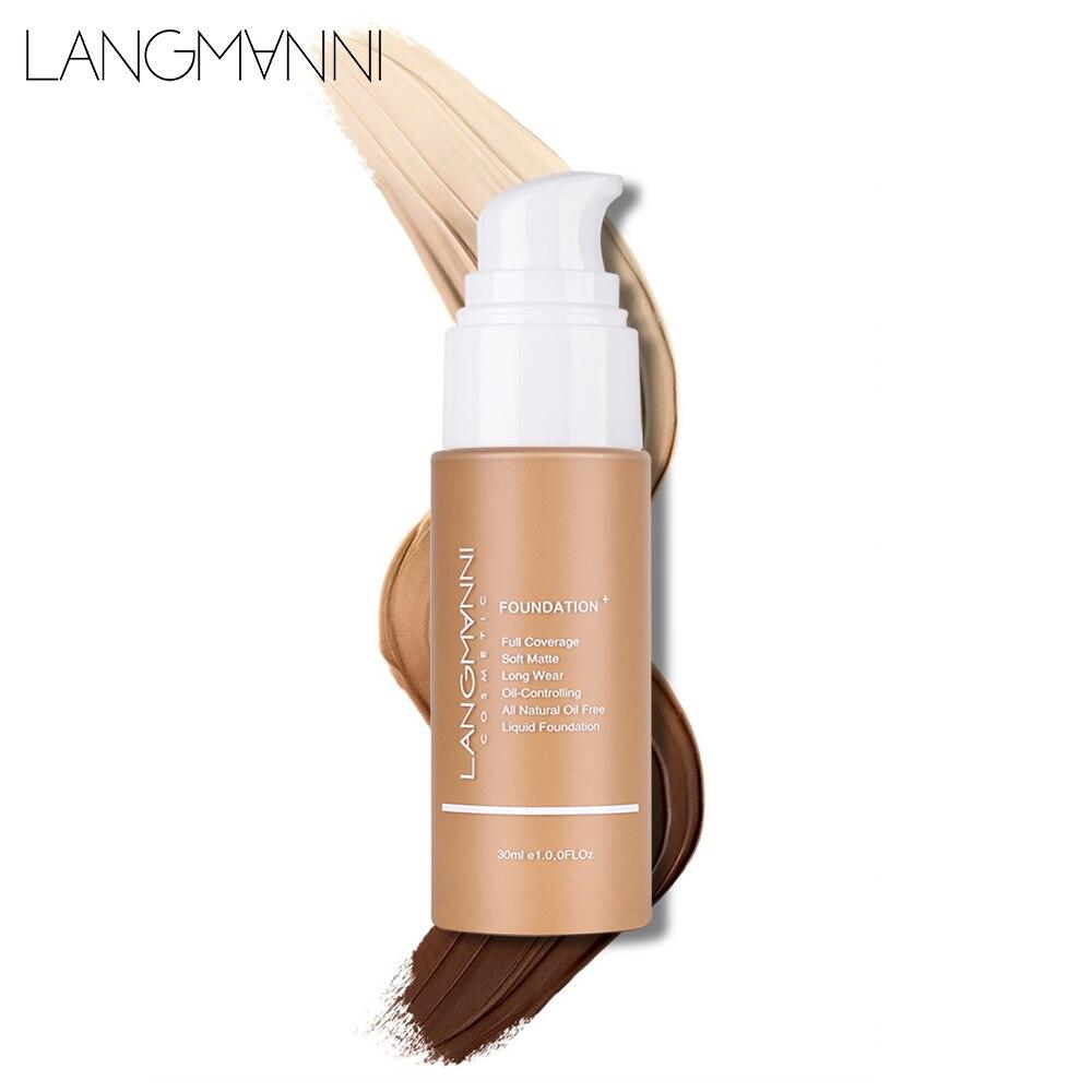 Langmanni 30ml Liquid Foundation Soft Matte Concealer 13 Colors Primer Base Professional Face Make up Foundation Contour Palette 3
