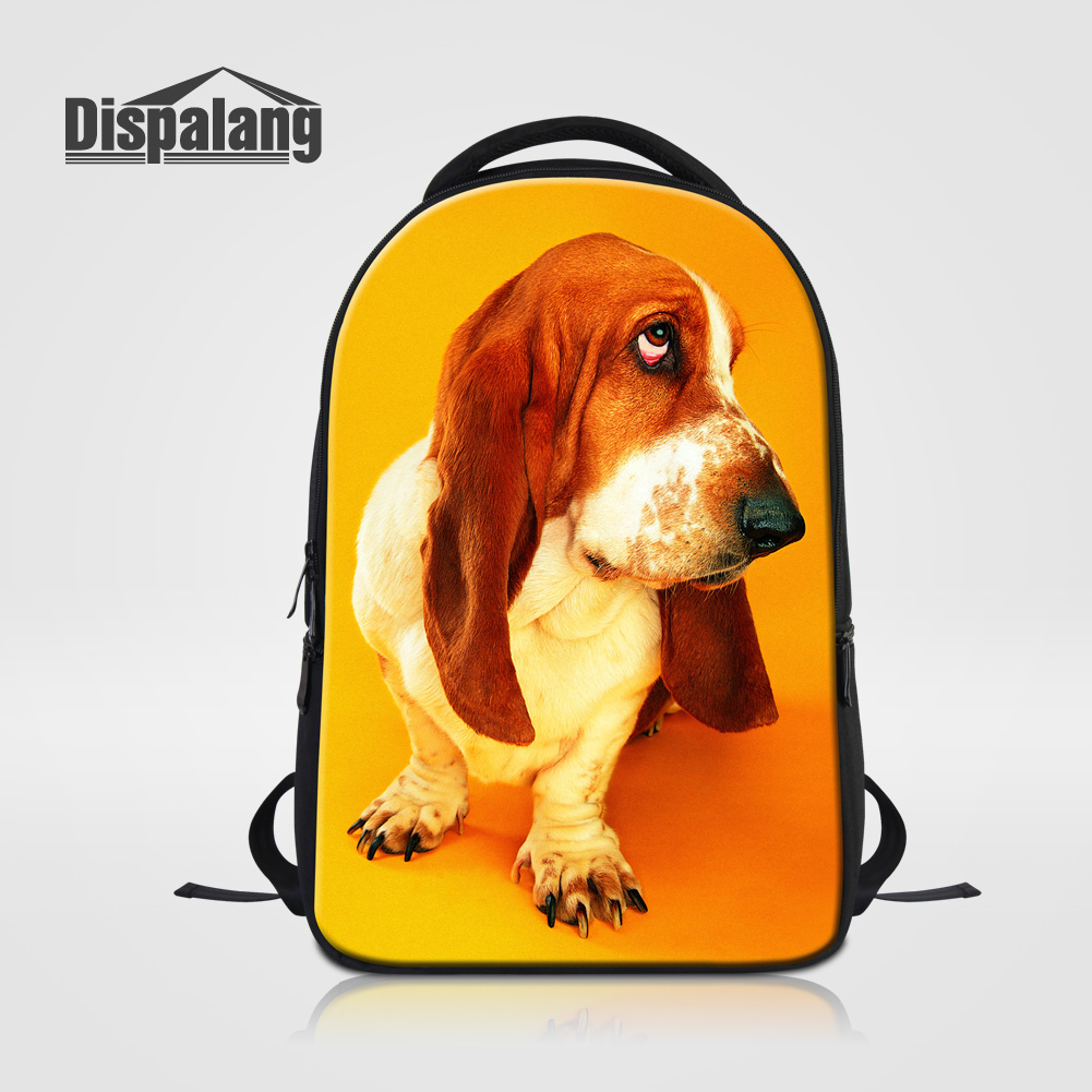 Dispalang Pug Dog Printing School Bags For College Women Laptop Backpack Animal Bookbags For Teenage Girls Mochila Male Rucksack shakespeare