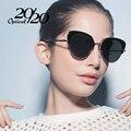 20/20 marca de fábrica polarizaron las gafas de sol de las mujeres de lujo de metal cat ojo gafas de sol clásicas glasees para mujer oculos 7063