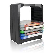 Multifunctional Disk Storage Tower For Games & Blu Ray Discs Storage Tower Holder 10 Game Disks Organizer for Xbox One/PS4