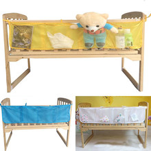 Hanging Storage Bag Baby Cot Bed Brand Baby Crib Organizer Toy Diaper Pocket For Crib Bedding Set Storage Bed Bumper(China)