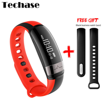 Techase Blood Pressure Heart Rate Monitor Fitness Tracker Smartband Bracelet Bluetooth Waterproof Sports Data Monitor Free Band