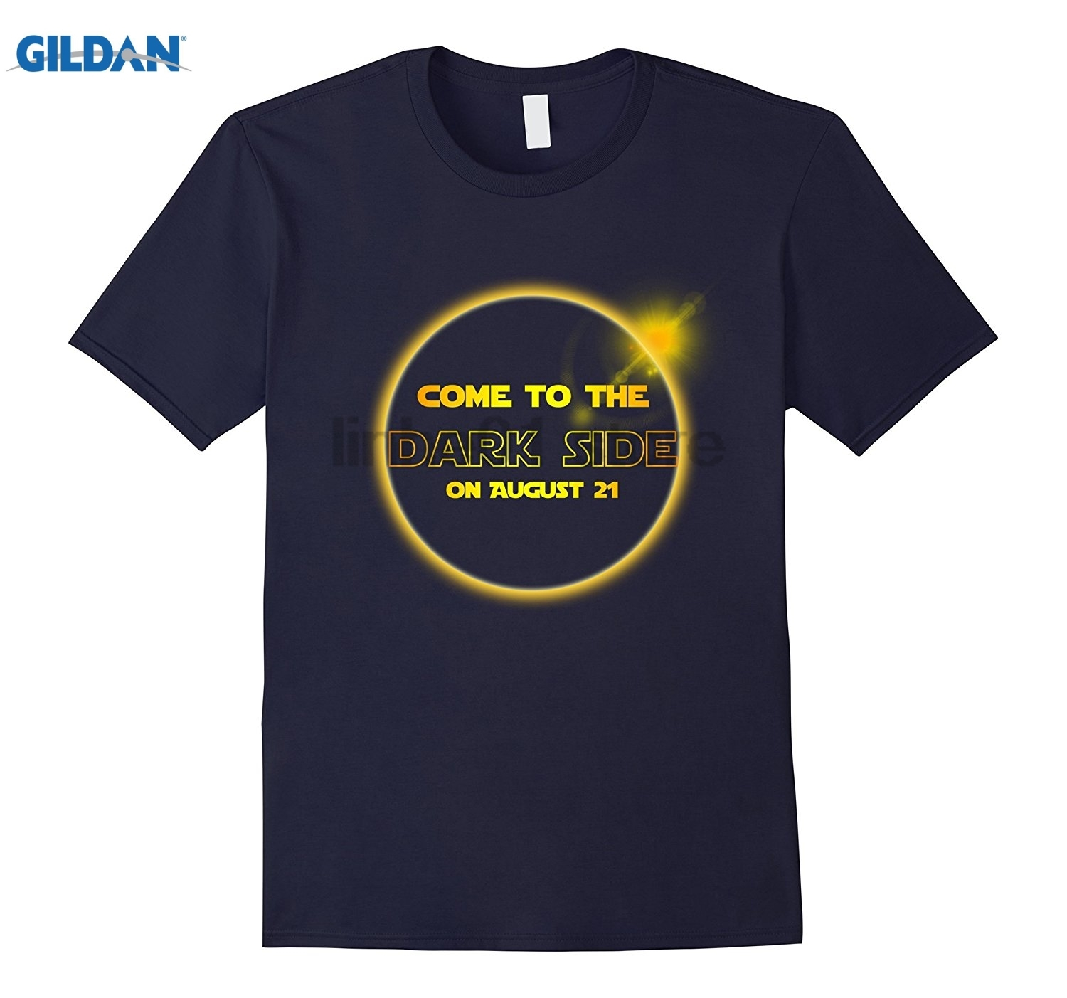 GILDAN COME TO THE DARK SIDE August 21 Solar Eclipse T shirt Mothers Day Ms. T-shirt Dress female T-shirt