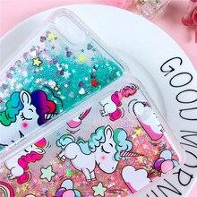 Cute Unicorn Liquid Sand case N. 1 for Huwaei Honor
