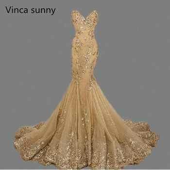 vestido de festa Luxury Evening Gowns Sweetheart robe de soiree Gold Sequins Mermaid Evening Dresses Long 2019 Best Selling - DISCOUNT ITEM  33% OFF All Category