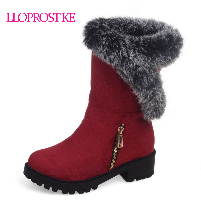 LLoprost KE New comfortable lesure elastic nubuck leather woman snow boots beauty fashio ...