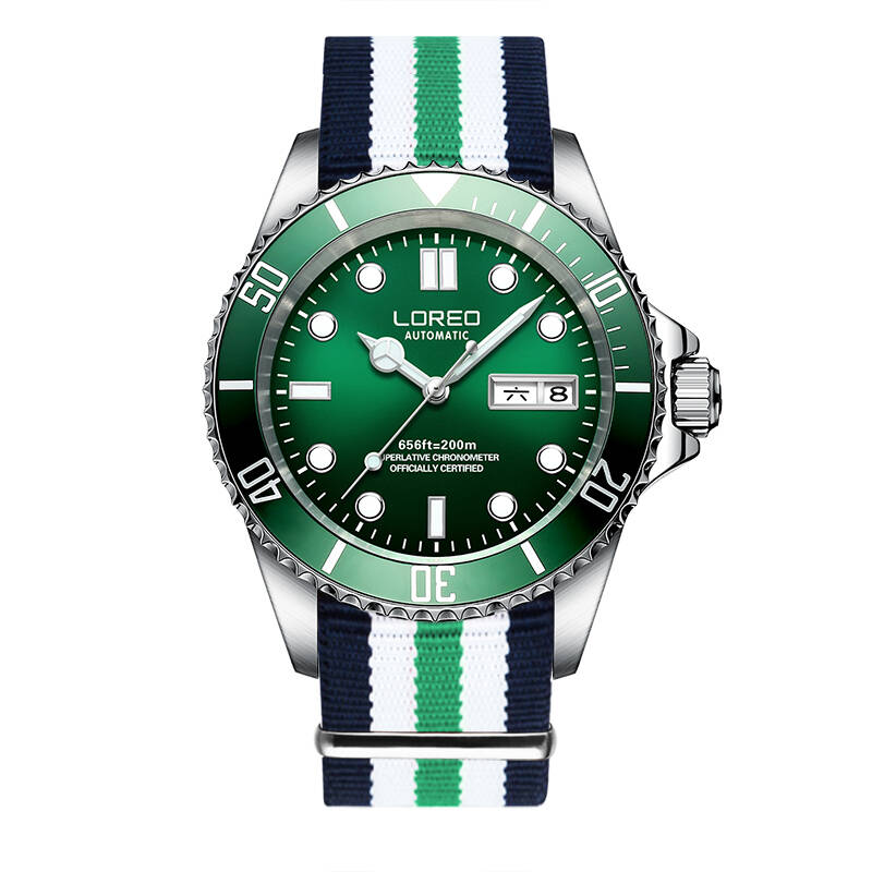 LOREO 9203 Germany diver 200M oyster perpetual air-king automatic self-wind diver cosmograph daytona relogio masculino loreo 9203 germany diver 200m oyster perpetual air king automatic self wind luminous watches men luxury brand stainless steel