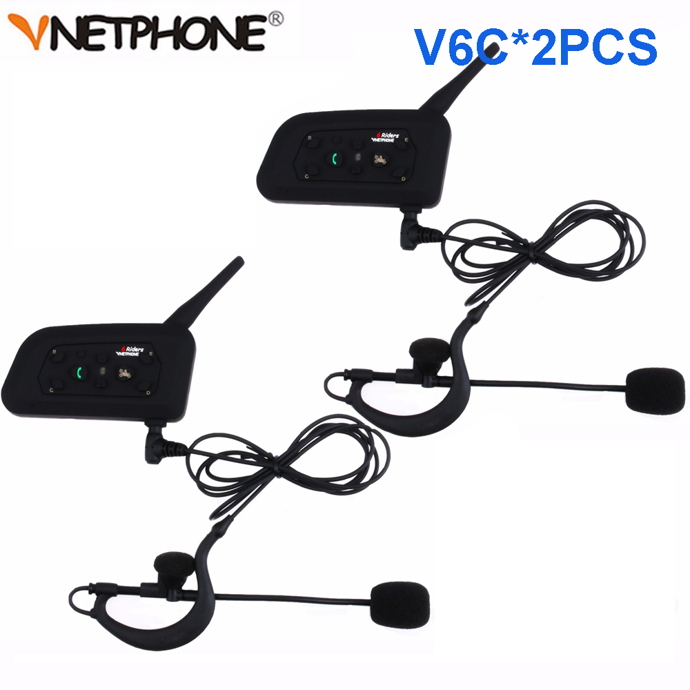 Latest Football Referee Intercom Headset Vnetphone V6C*2pcs 1200M Wireless Full Duplex Bluetooth Interphone BT Headphone