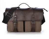 MANJIANGHONG Handbags Men's Messenger Canvas leather Vintage Cover Shoulger Bag Man's Messenger bags Travel Laptop Briefcase