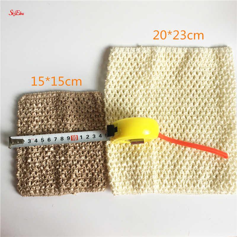 9 Inch/6 Inch Borst Kinderen Elastische Haarbanden Borst Knit Meisje Haak Hoofdband Tutu Tube Tops Breed 2019 Diy rok Jurk 5z