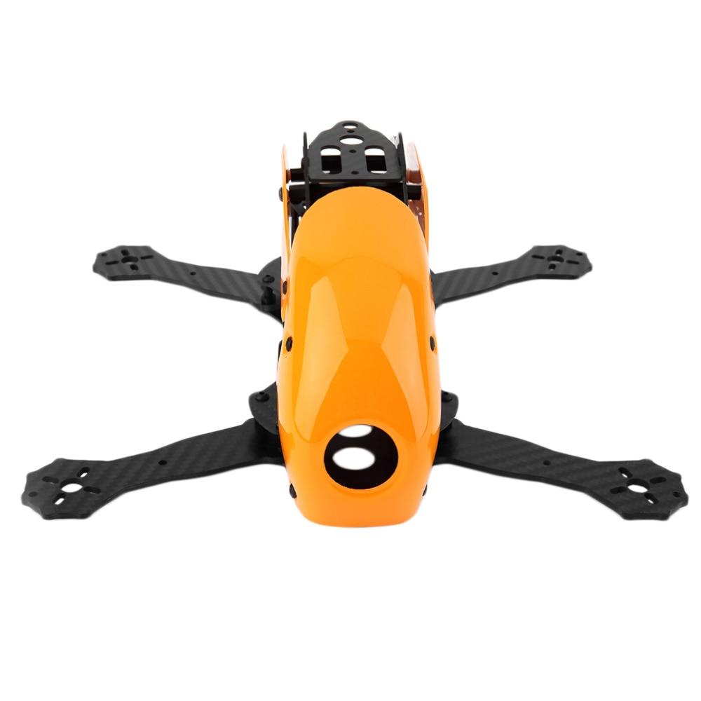 Robocat 270mm 4-Axes Carbon Fiber FPV-Racing Mini Quadcopter Frame Kit Orange robocat 270mm 4 axis carbon fiber quadcopter frame naze rev6 flight control lhi 2204 motor 12a esc props rc01