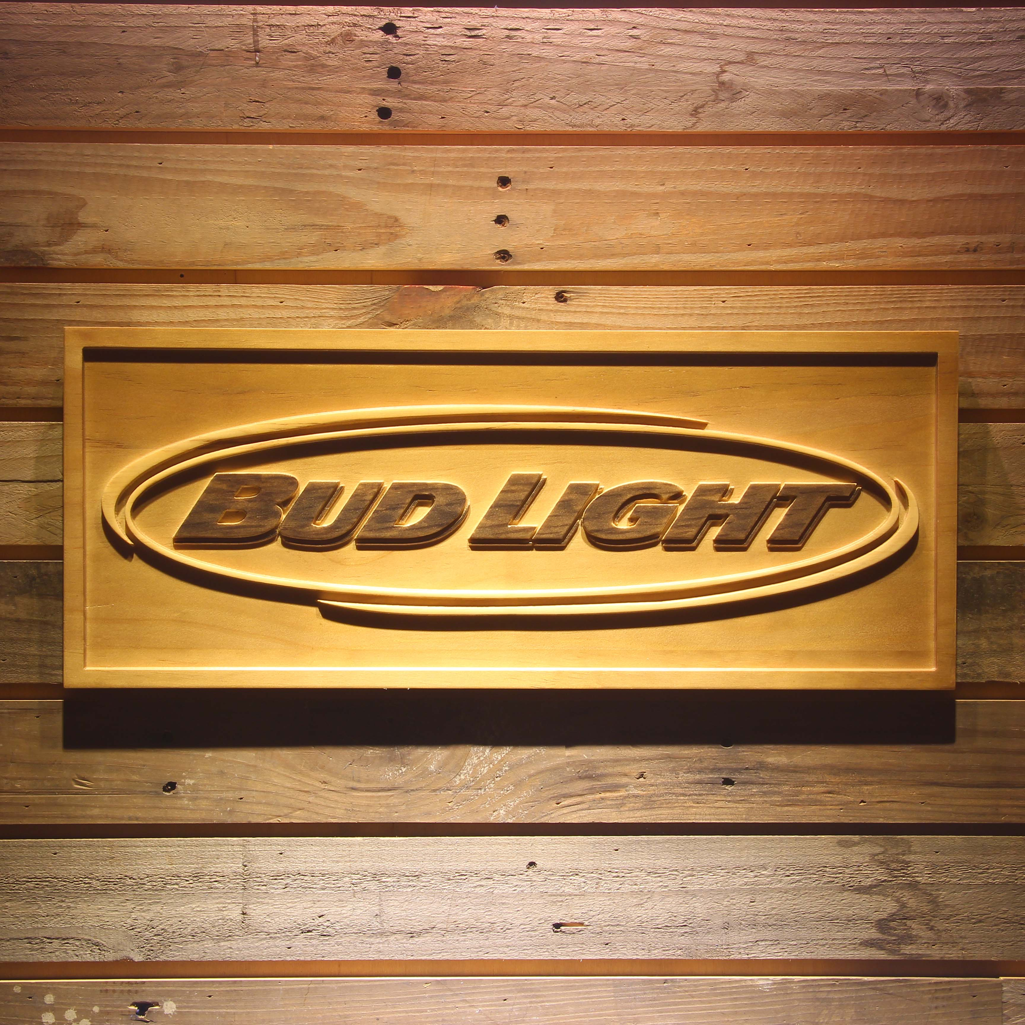 Bud <font><b>Light</b></font> 3D Wooden Sign
