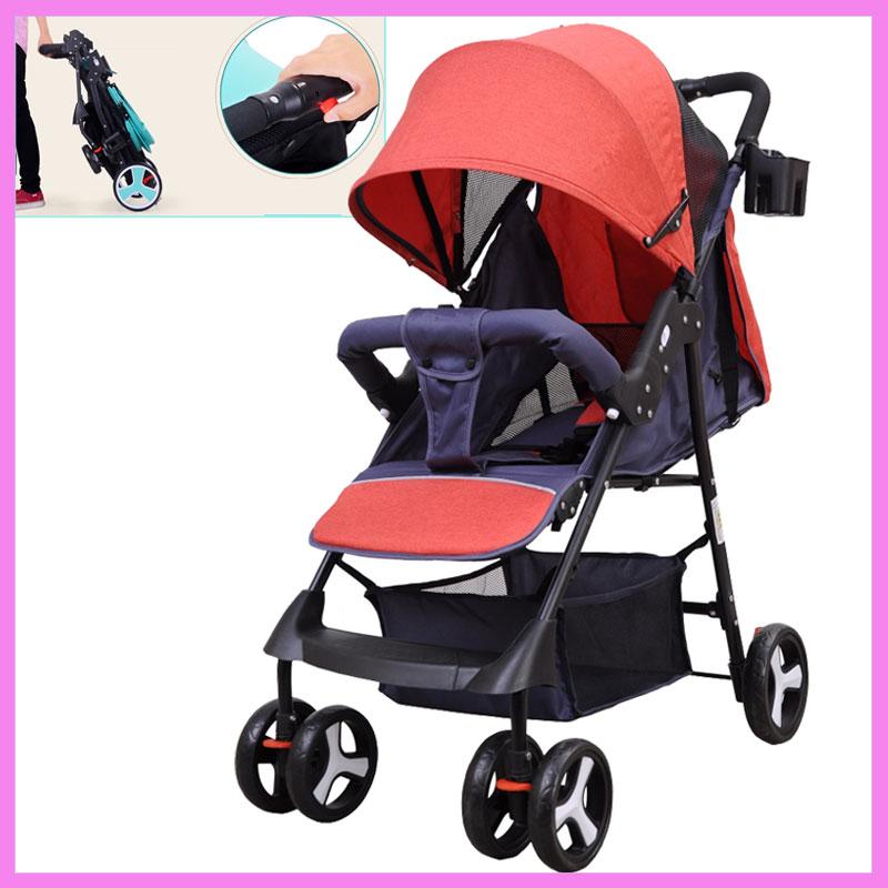 175 Degree Lying Baby Umbrella Trolley Lightweight Stroller Portable Foldable Travel System Boarding Airplane Pram Pushchair