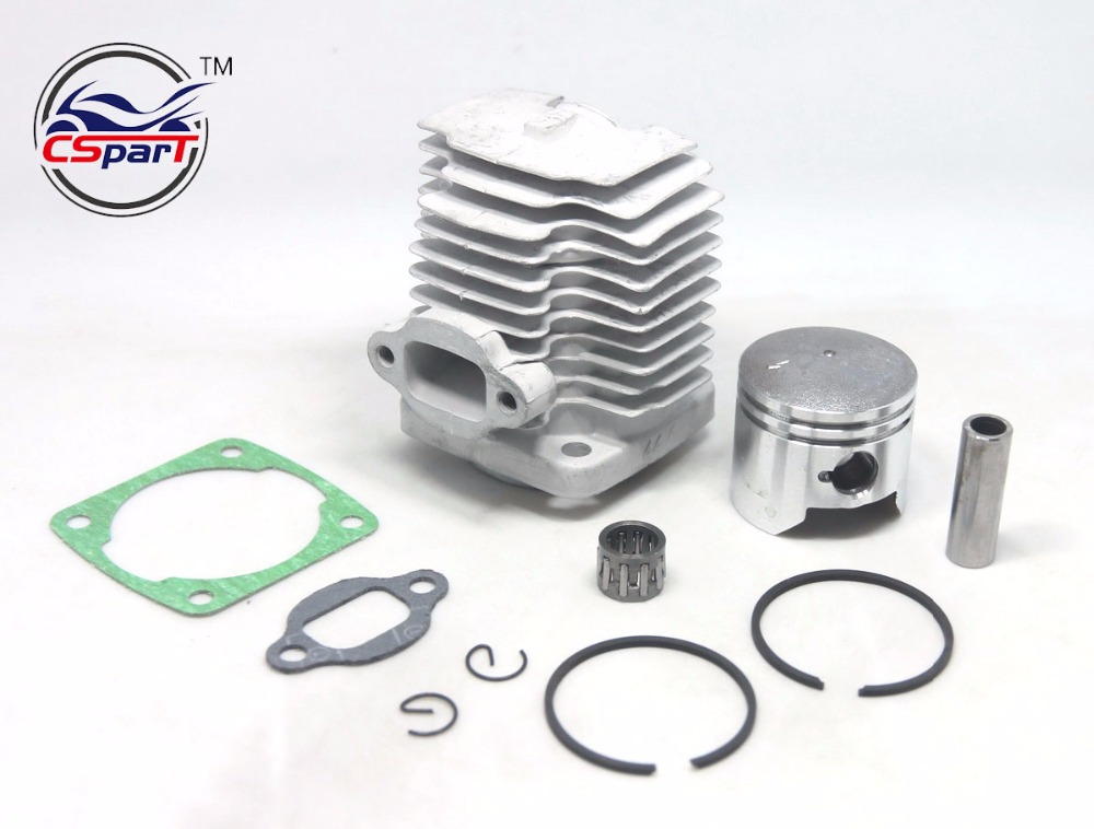 44mm 10mm 12mm 44-6 44-5 Cylinder Piston Kit For 49cc 2 Stroke Engine Mini Moto Dirt Pocket Bike ATV Quad Minimoto Dirt Bike