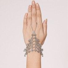 HC037 Vintage Silver Gypsy Boho Coachella Hollow Flower Mesh Beach Chic Festival Turkish Slave Bracelets Jewelry