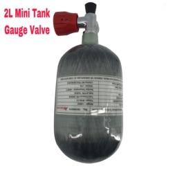 AC52011 Acecare 2L Air fusil Paintball/Pcp réservoir d'air Mini bouteille de gaz en Fiber de carbone bouteille de plongée 4500psi jauge Pcp Valve