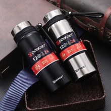 Large Capacity 1000ML 304 Stainless Steel Vacuum Coffee Tea Thermos Mug Wine Swig Cups Bottle Cap Business Style Car Outdoor