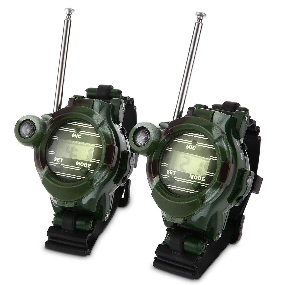 2 piezas 7 en 1 Walkie Talkie ver camuflaje estilo de los niños juguete niños juguetes niños eléctrico fuerte y clara de interfono