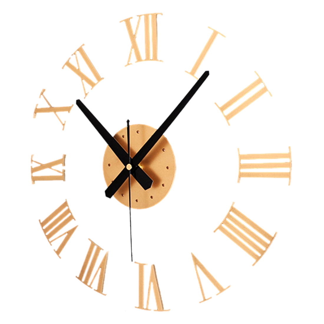 Diy Luxury 3d Roman Numerals Wall Clock Large Size Home