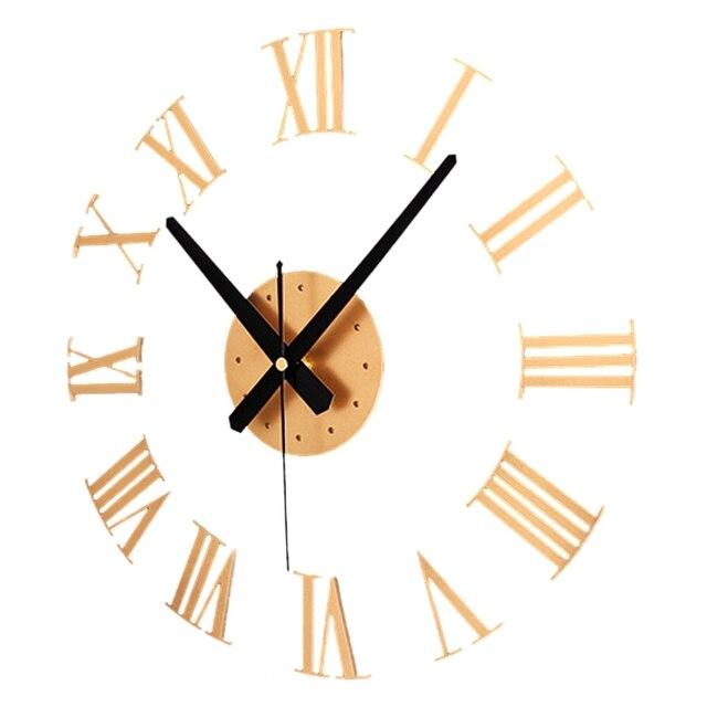 fca06c23eae3 DIY de 3D los números romanos del reloj de pared de gran tamaño arte de  decoración