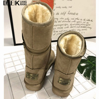 2017 Women Boots Warm Australia Classic Snow Winter Boots Women Artificia Suede Leather Botas Snow Boots