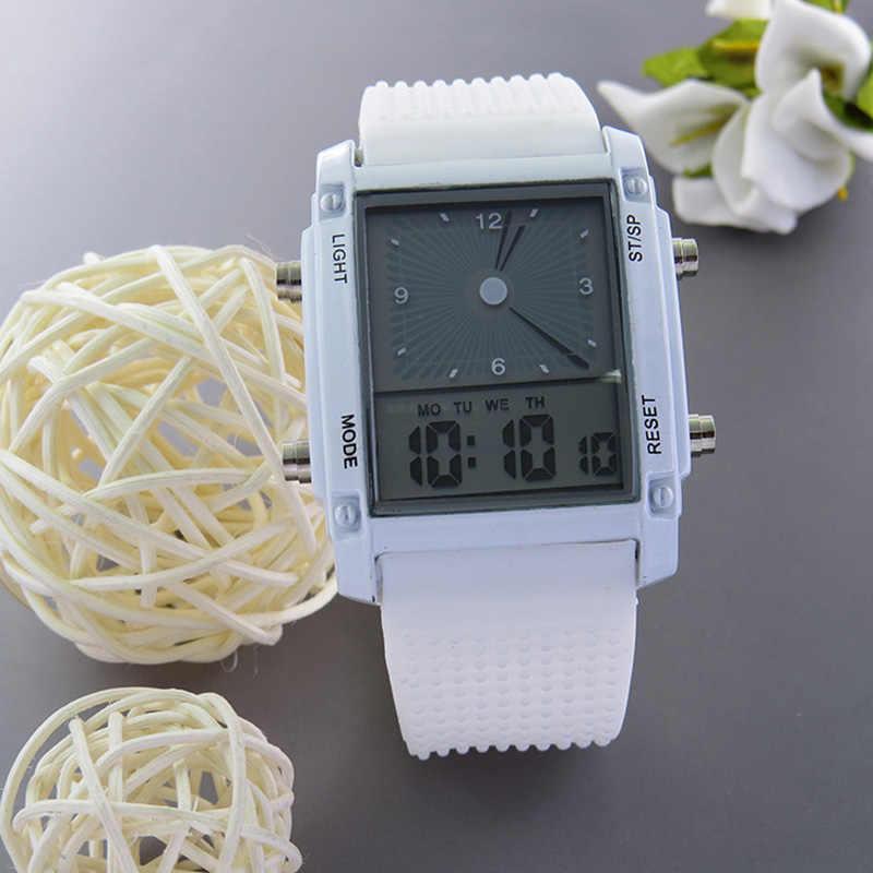 レロジオ Feminino 女性の腕時計 LED デジタル新デザインファッション女性デュアルディスプレイは、レディース発光電子時計