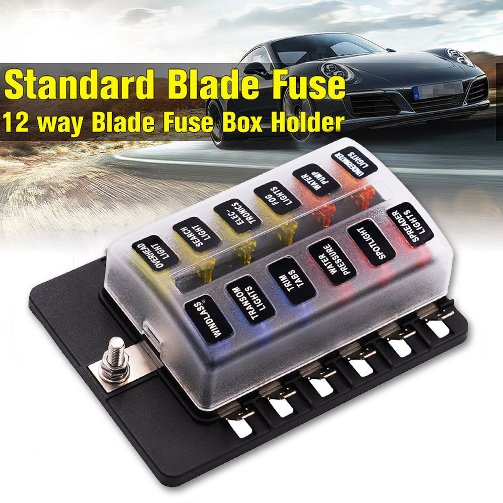 Car-styling Fuses 6/8/10/12 Way Terminals Circuit Car Boat Bus ATC ATO Fuse Box Block Holder 32V td1127 dropship 32v 1 in 8 out auto car boat fuse holder standard ato atc blade fuse holder box block holder car boat electrical fuse equipment