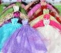 15 шт = 5 платье + 5 вешалки + 5 пар обуви/высокое качество вечернее платье юбка аксессуары одежда Для Kurhn Барби кукла