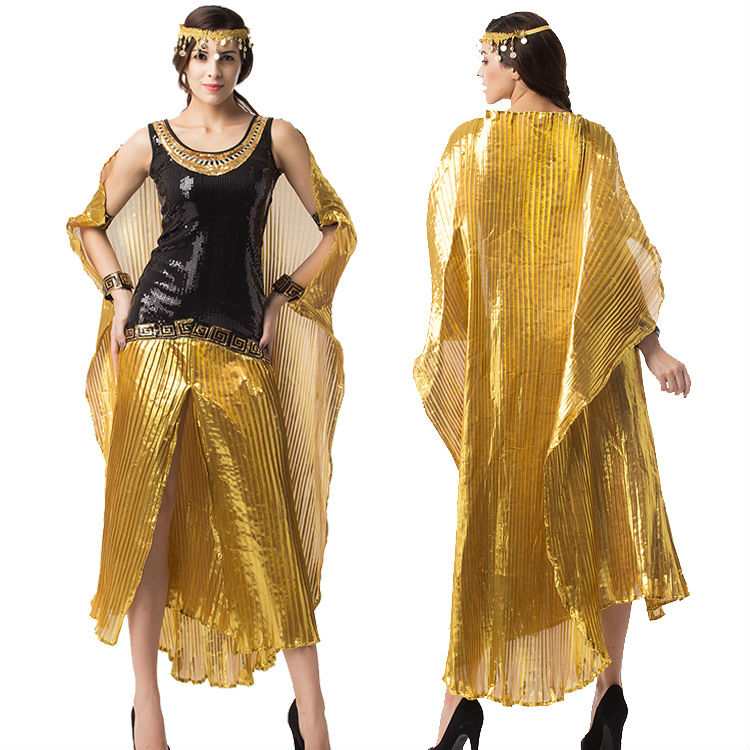 Greek Goddess of Egypt Costume Adult Halloween Ladies Hen Fancy Dress S--XXL ZML002