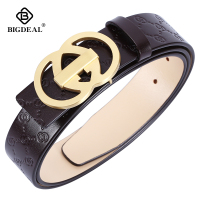 BIGDEAL Brand Belt For Men Cowskin Genuine Lether Pin Buckle High Quality Male Strap Vintage Jeans