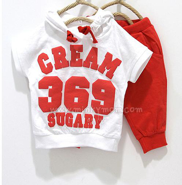 2017l summer style Brand 369 children clothing set  babt clothes  boys & girls clothes baby sport suits  T-shirt hoodies+pant 2017 new summer 369 digital