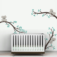 Oversize Removable Koala Tree Branches DIY Wall Decals Wall Sticker Nursery Vinyls Baby Wall Stickers Wall Art For Kids Rooms
