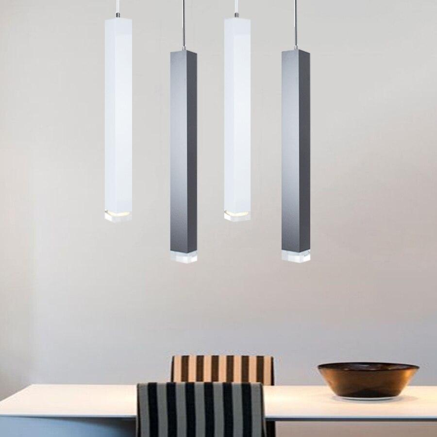 Led Pendant Lamp Hanging Lights Kitchen Island Dining Room Shop Bar Counter Decoration Cylinder Pipe Hanging Lamps