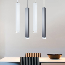 led Pendant Lamp hanging Lights Kitchen Island Dining Room Shop Bar Counter Decoration Cylinder Pipe Hanging Lamps