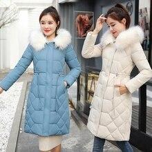 2019 Winter Down Parka Women's Thick Warm Long Jacket Waterproof Coat Large Size Hooded Big Fur Collar Parka Women Jacket New цены онлайн