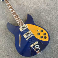 Custom product 6 string RICK blue electric guitar. All colors can be, the factory wholesale