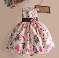 Nuevo Partido de Las Muchachas Vestidos Del Tutú Florales Para El Cumpleaños de Navidad Princesa Del Bebé Ropa Para Niños Tamaño 1-5 T