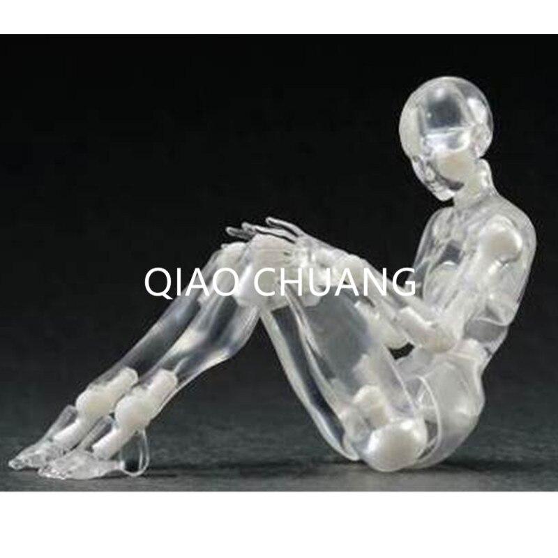 Тело мужчины женщина прозрачные Цвет он она ПВХ гибкие подвижные Гараж Комплект Модель личности изысканные украшения коробку g115