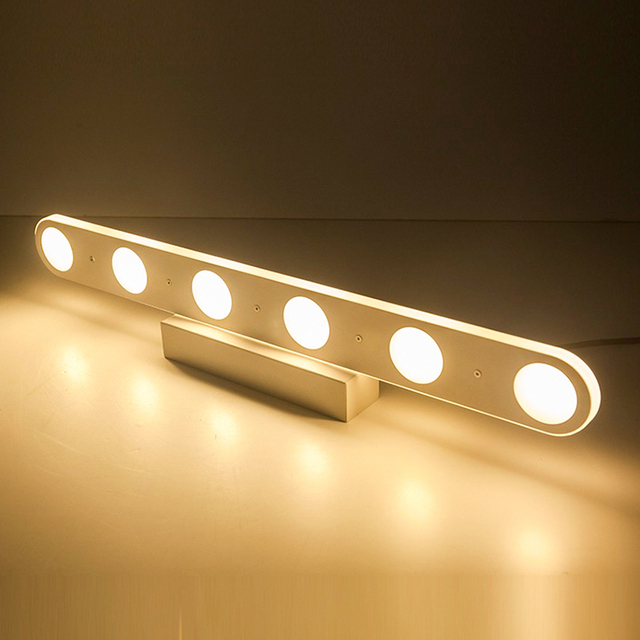 LED Bathroom Mirror Wall Light Toilet Lamp Acrylic 220V Warm Lights Applique Murale Luminaire Aplique De