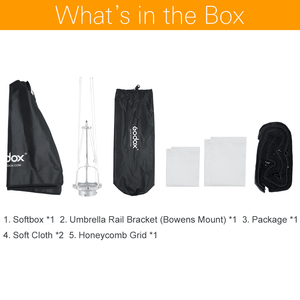 Image 2 - Godox 95 センチ 37.5in ポータブル八角傘ソフトボックスとハニカムグリッド Bowens のマウントスタジオソフトボックス SK400II QT400II