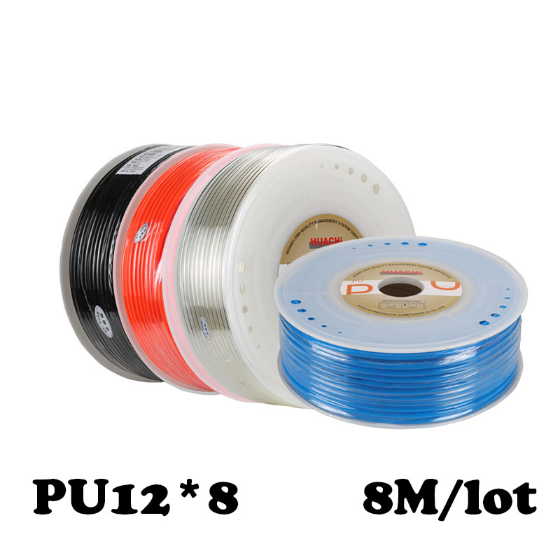 PU12*8  8M/lot Free shipping Air pipe, pneumatic hose, air duct, compressor parts & water Pneumatic