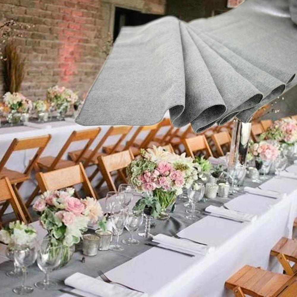 linen table runners wedding