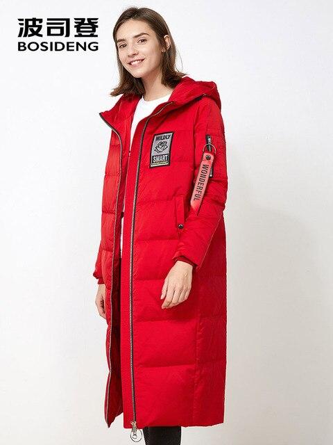 bd639d053f21 BOSIDENG X-long deep winter Down jacket for women down coat winter hoodie  90 down