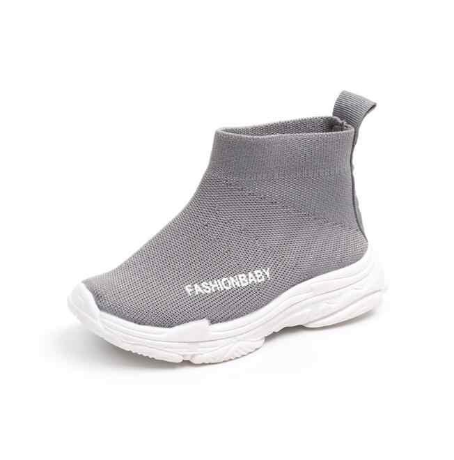 ילדים מגפי ילדי בני בנות אופנה סניקרס ספורט ילדי נעלי פנאי לנשימה חיצוני רך שטוח מגפיים