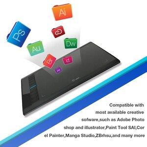 Image 5 - Ugee M708 V2 Digitale Grafiken Tablet für Zeichnung 10x6 Zoll Malerei Pad 8192 Ebene Grafik Tablet mit Batterie freies Stift